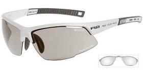 Спортивні захисні окуляри R2 RACER з лінзами grey photochromatic AT063K біла оправа