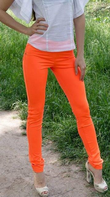 Оранжевые женские лосины, фото 1