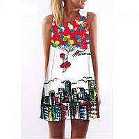 Платье женское яркое СС7164