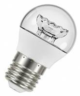 Светодиодная Лампа LED OSRAM 220В E27 5Вт 470Лм 3000К Р40 шарик, прозрачная, теплый свет, аналог 40 Вт