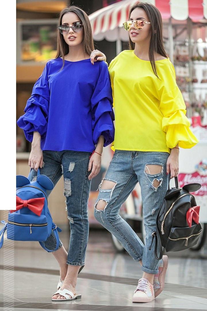 Стильная женская блузка с оригинальными рукавами