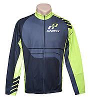 Веломайка GHOST Jersey long довгий рукав black/green XXL 2014 (14238)