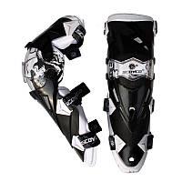 Велосипедний захист Scoyco наколінники пластик PL K12-G  білий/чорний