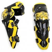 Велосипедний захист Scoyco наколінники пластик PL K12-Y жовтий/чорний