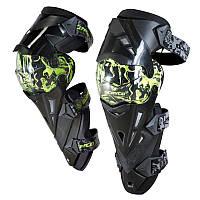 Велосипедний захист Scoyco наколінники пластик PL K12-G зелений/чорний