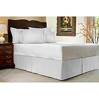 Юбка для кровати Белая узкие полоски Модель 1 строгий Мodern