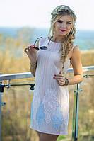Платье-трапеция выполнено из красивейшего турецкого жаккарда с золотистым напылением.