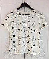 Белая трикотажная футболка. Размер: 42, 44, 46