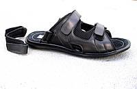 Мужские кожаные сандалии - шлепанцы большие размеры 46-49 р-р