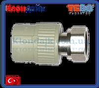 PPR Tebo муфта с накидной гайкой D 25*3/4 (пласт)