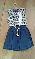 Джинсовое детское платье 4-12