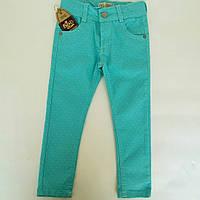 Летние джинсы для девочки в горошек.