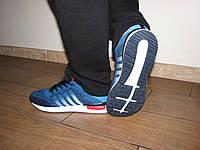 Мужские текстильные синие кроссовки для бега, спорт зала повседневные 41 44