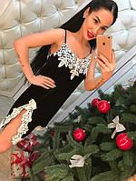 Черное бархатное платье (арт. 522786218/967)