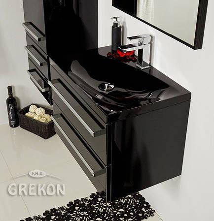 Шкафчик + черная раковина Grekon Melinda 60x39