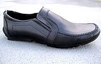 Чоловічі шкіряні мокасини-туфлі великі розміри 46-49 р-р, фото 1