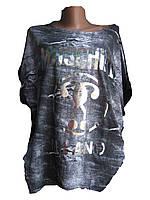 "Футболка женская батал (трикотаж) Milano Турция Розница ""Assorti"" R-4473"