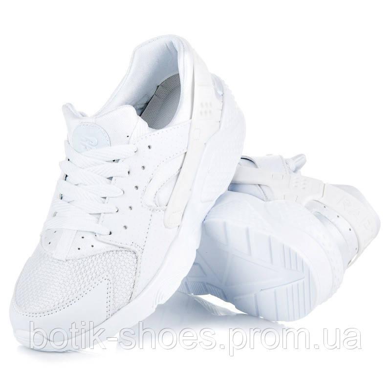 Женские белые кроссовки Nike Air Huarache Найк Хуарачи реплика -  интернет-магазин обуви