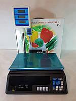 Электронные торговые товарные весы со стойкой на 40кг