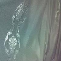 Тюль облегченный лен вензель