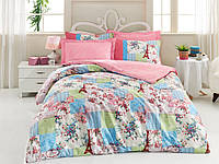 Хлопковый комплект постельного белья ЕВРО размера Cotton Box ANYA MAVI CB03