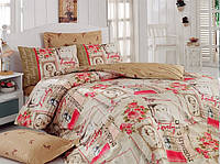 Хлопковый комплект постельного белья ЕВРО размера Cotton Box ROMANTICHARDAL CB03
