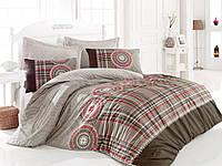Хлопковый комплект постельного белья ЕВРО размера Cotton Box DIANA KAHVE CB03