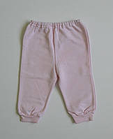 Байковые штанишки для новорожденных розовые 74 см