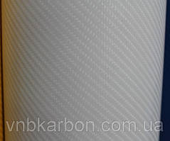 Карбоновая пленка 4D белая под лаком с микроканалами
