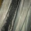 Тюль люрекс серебряно серый
