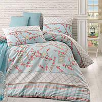 Качественное Двуспальное постельное бельё Eponj Home BIRDCAGE SV10