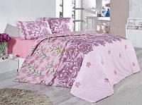 Красивое постельное бельё евро размера LARYSSA SV18