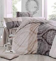 Двуспальное постельное бельё Eponj Home DAMASK KAHVE SV10
