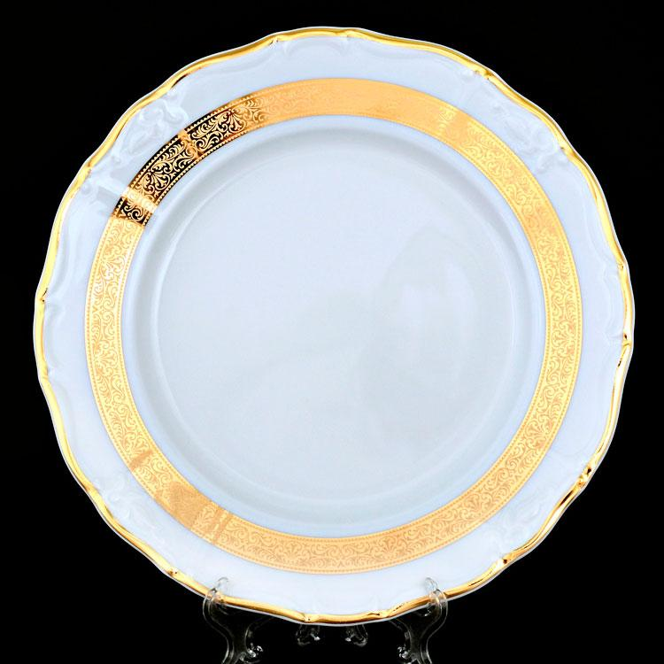 Тарелка десертная Thun Marie-Louise (Золота стрічка) 6 штук d19 см фарфор (8800300)