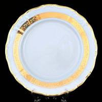 Тарелка обеденная Thun Marie-Louise (Золота стрічка) 6 штук d25 см фарфор (8800300)