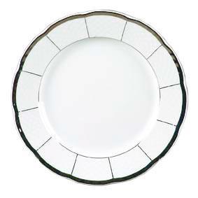 Тарелка обеденная Thun Menuet (Обводка платина) 6 штук d24 см фарфор (7224800)