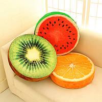 Подушки в виде фруктов: киви, ананас, арбуз, лайм или срез дерева!