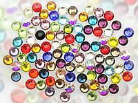 Стразы стекло микс цветов, для дизайна ногтей, SS3, аналог Сваровски