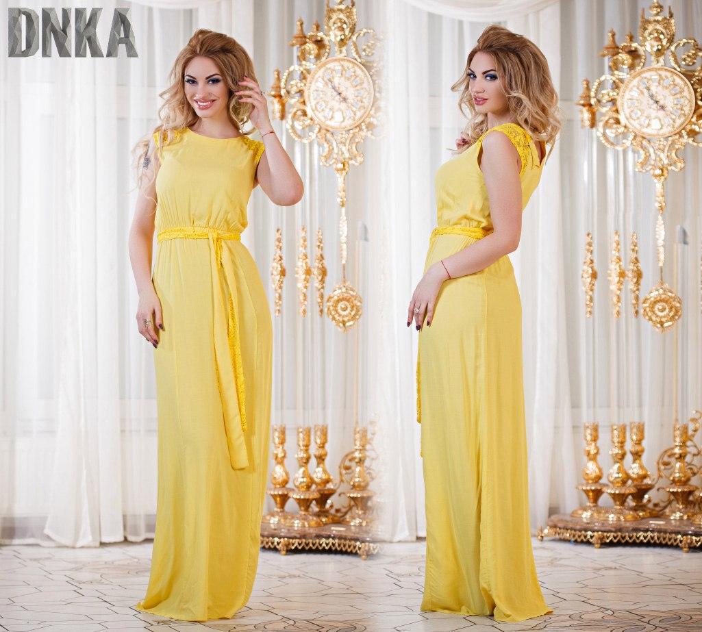 Яркое батальное платье в пол (3 цвета)