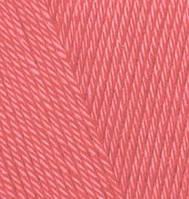 Летняя пряжа с эффектом шелка Alize Diva 619 коралл