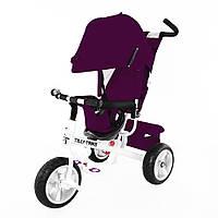Велосипед трехколесный Trike T-371 фиолетовый на бескамерном колесе