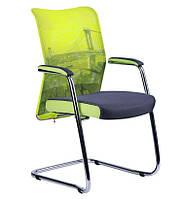 Кресло Аэро CF сиденье Сетка серая, Zeus 047 Light Green/спинка Сетка лайм-Brooklyn Bridge