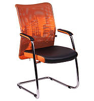 Кресло Аэро CF сиденье Сетка черная, Zeus 045 Orange/спинка Сетка оранж-Skyline