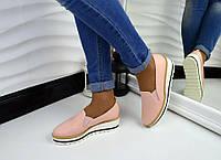Женские туфли на платформе цвет пудра, 37 41р.