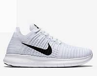 Кроссовки мужские Nike Free Run Flyknit White Wind (Оригинал), кроссовки найк фри флайнит белые