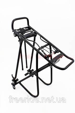 """Вело Багажник 24 - 26"""" цельносварной алюминий, черный, фото 2"""