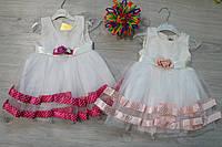 Летнее платье  для девочки Турция размер 6мес, 12 мес, 18 мес