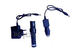 Фонарик WD315 Cree LED 180 Lumens аккумуляторный 1 LED 3 режима работы, авто зарядка