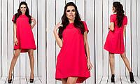 Красивое модное короткое ассиметричное женское молодежное платье 2017