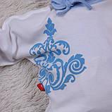 """Трикотажный набор для новорожденных, """"Monogram"""" голубой, фото 5"""